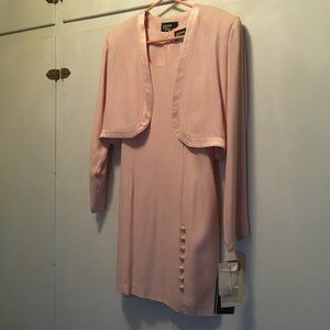Vintage pink sheath dress/bolero Jacket
